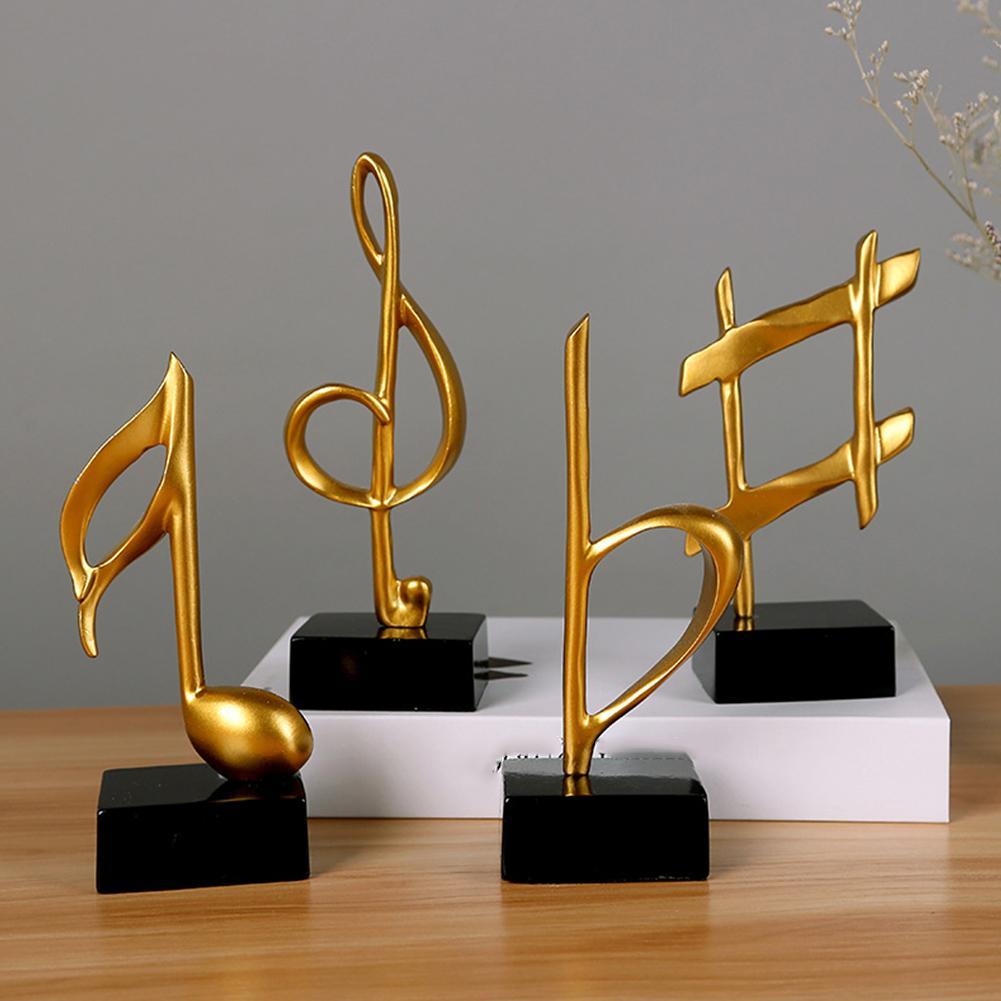 Mini Musical Note Music Model Figurines Resin Miniatures Figurines DIY Crafts Desktop Ornement Living Room Piano Home Decor