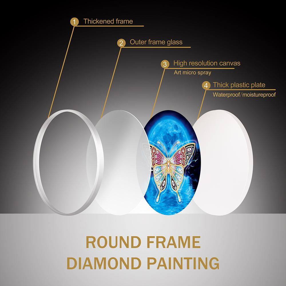 HOMFUN Christmas Diamond Painting 5d Cartoon Special Shaped Diamond Embroidery With Frame Art Kits Decorations Home Gift