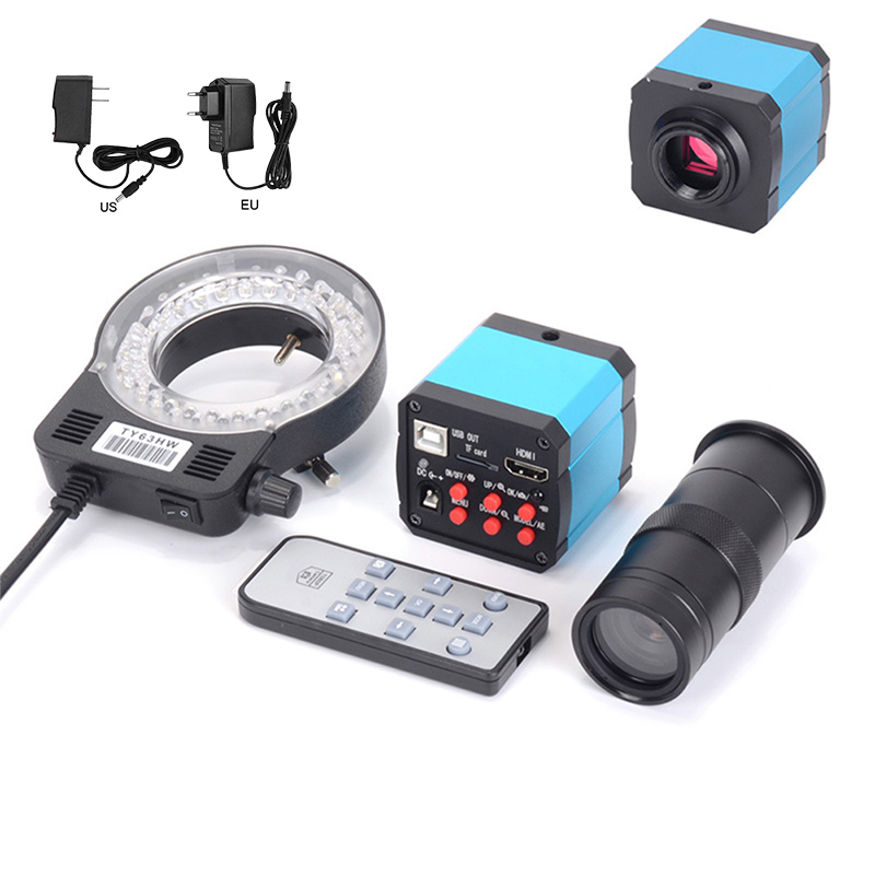 41MP HDMI <font><b>USB</b></font> Industrial Electronic Digital Video <font><b>Microscope</b></font> Camera <font><b>100X</b></font> 120X 180X 300X C Mount Lens Kit WWO66 image