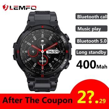 LEMFO K22 T Rex Pro Smart Watch Men 400Mah Big Battery Music Play Fitness Tracker Bluetooth Call Sport Smartwatch 2021 PK T Rex 1