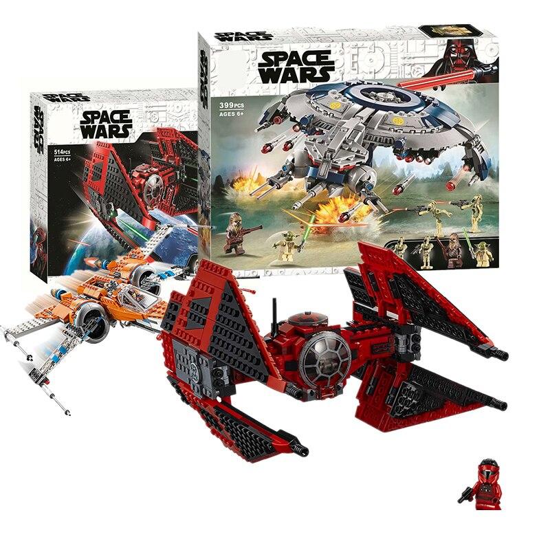 NEW 05085 75242 Black Ace TIE Interceptor Star Wars Movie Jedi Defender-Class Cruiser Building Block Bricks Toys NO BOX