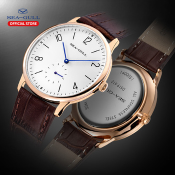 2020 New seagull men s watch customized manual mechanical simple cowhide belt casual business ultra-thin D519.612