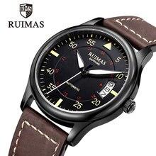 RUIMAS الرجال ساعة أوتوماتيكية ساعة ميكانيكية رجل فاخر العلامة التجارية الكلاسيكية رجل ساعات رجالي الرياضة ساعة ساعة Relogio Masculino