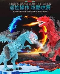 Kinder Spray Fernbedienung Dinosaurier Elektrische Spielzeug Spray Flamme Dragon T-Rex Große Größe Tier Spielzeug