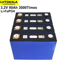4PCS Liitokala 3.2V 90Ah battery LiFePO4 Lithium iron phospha Large capacity 90000mAh Motorcycle Electric Car motor batteries
