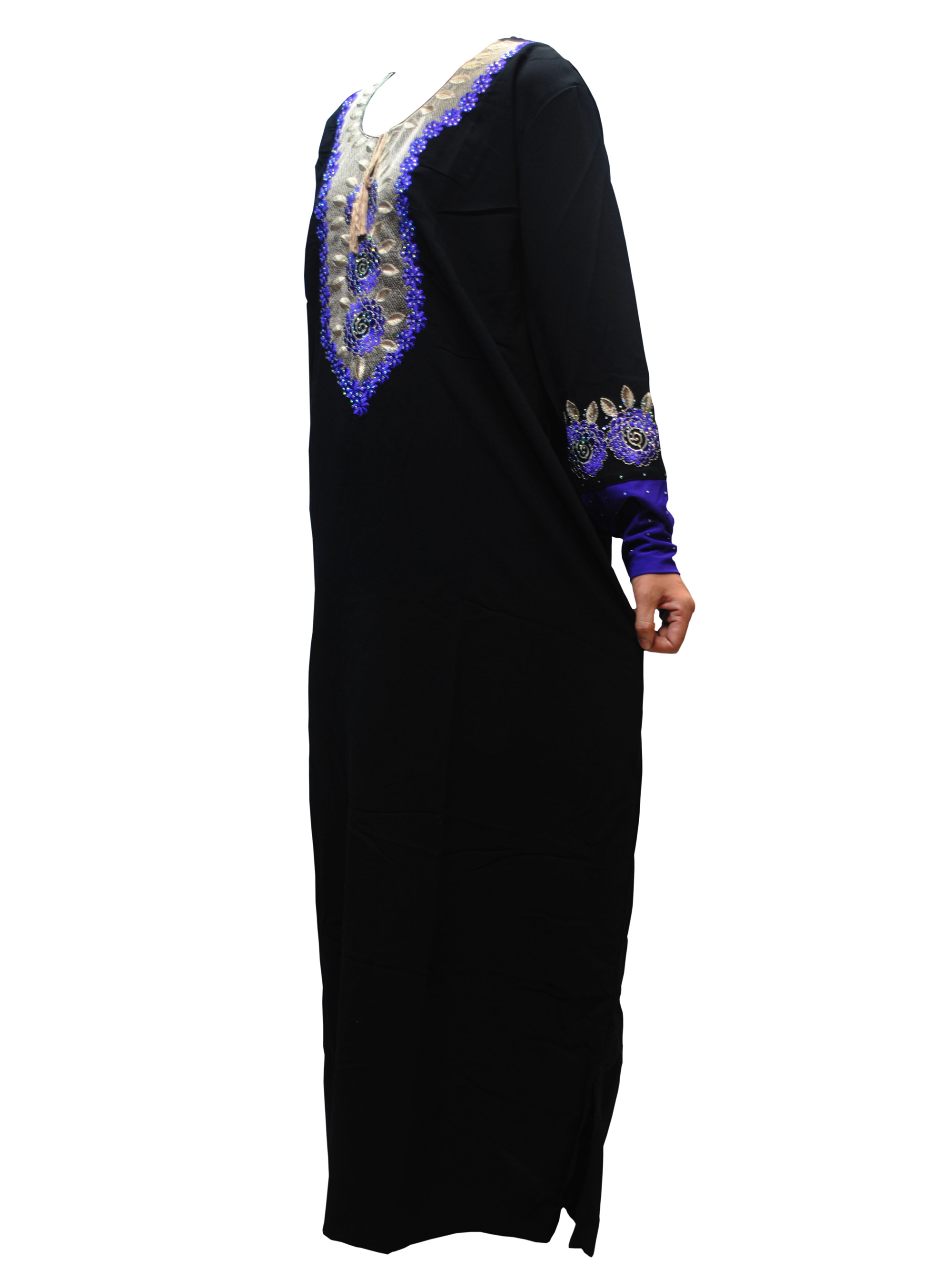 FREE SHIPPING Dubai Lady Abaya Middle East Robe Ramadan Clothes Diamond AndEmbroidery Kaftan Jibab Islamic Muslim Dress Forwomen