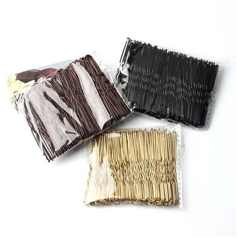 50 шт., женская заколка для волос 6 см, u-образная заколка для волос, заколка для салона, заколки для волос, черные металлические аксессуары для ...