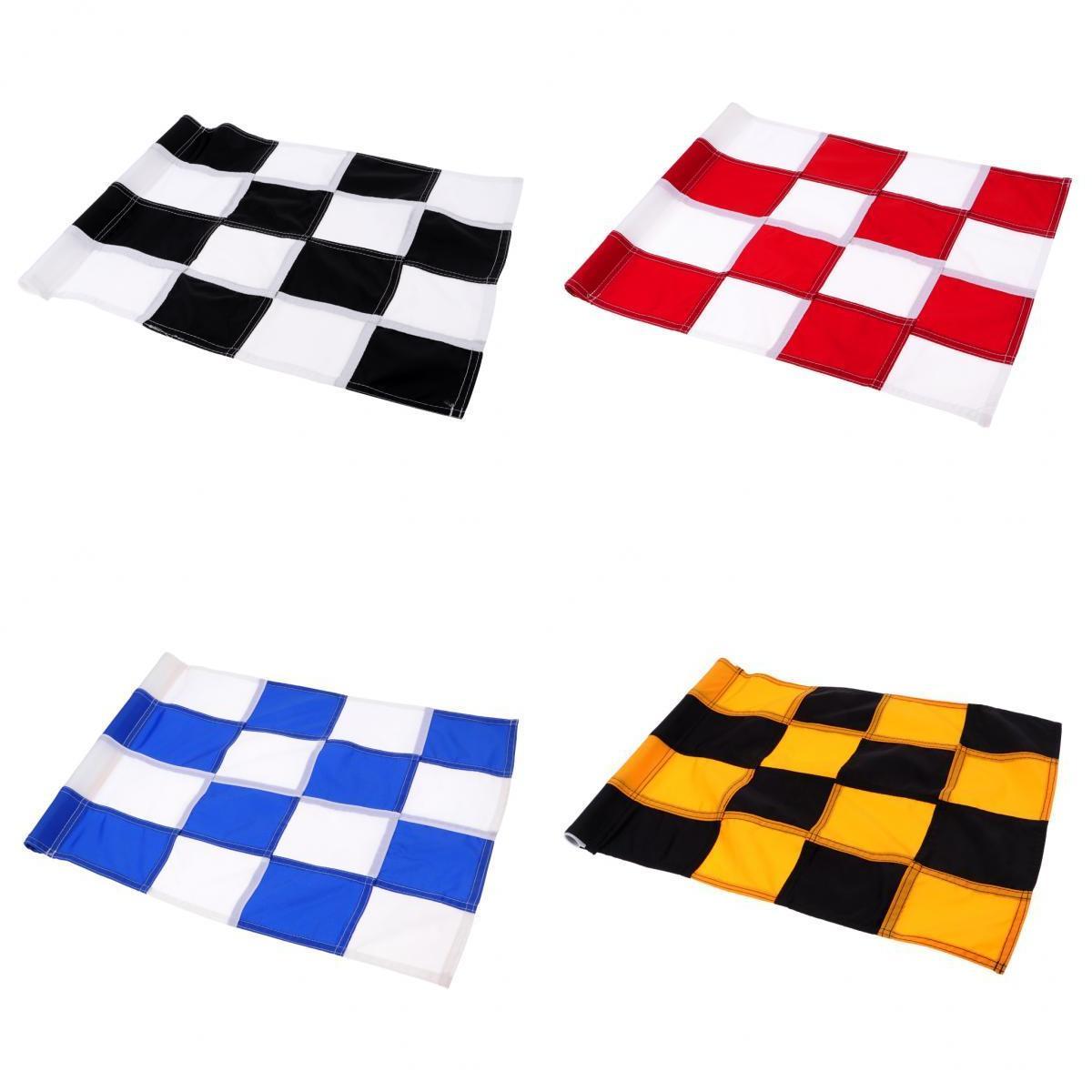 Drapeau de Golf 4 pièces, Golf mettant le drapeau vert, arrière-cour pratique Golf trou pôle coupe drapeau Nylon mettant le drapeau vert