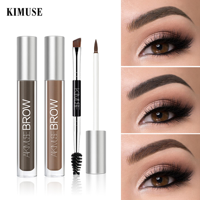 KIMUSE Eyebrow Gel Dye Waterproof Eyebrow Shasow Eyebrow Tint Eye Makeup Eyebrow Pencil Long Lasting Cosmetic Eyebrow Enhancer