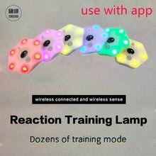 Ququeling】treinamento de reação luz lâmpada velocidade agilidade resposta equipamentos basquete boxe fitlight blazepod siboasi