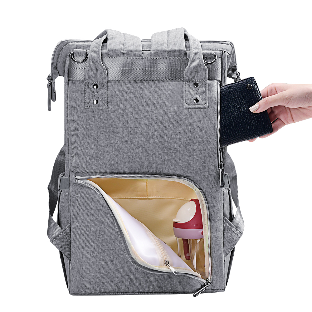 H0eeaaa5f6b4d495580ee0728e2f3023cY Sunveno Fashion Diaper Bag Backpack Quilted Large Mum Maternity Nursing Bag Travel Backpack Stroller Baby Bag Nappy Baby Care