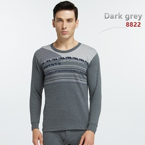 100% cotton Men long johns comfortable thermal underwear for Autumn and Spring inner wear sets
