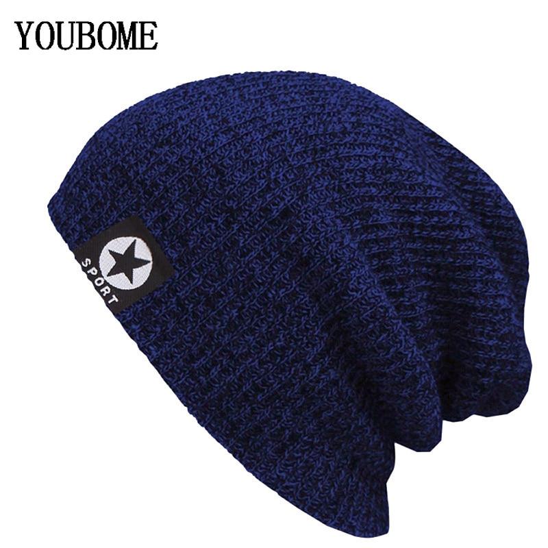 Brand   Skullies     Beanies   Women Winter Hats For Men Knitted Hat Men Famale Beany Gorro Warm Bonnet Touca Male Winter   Beanie   Hat Cap