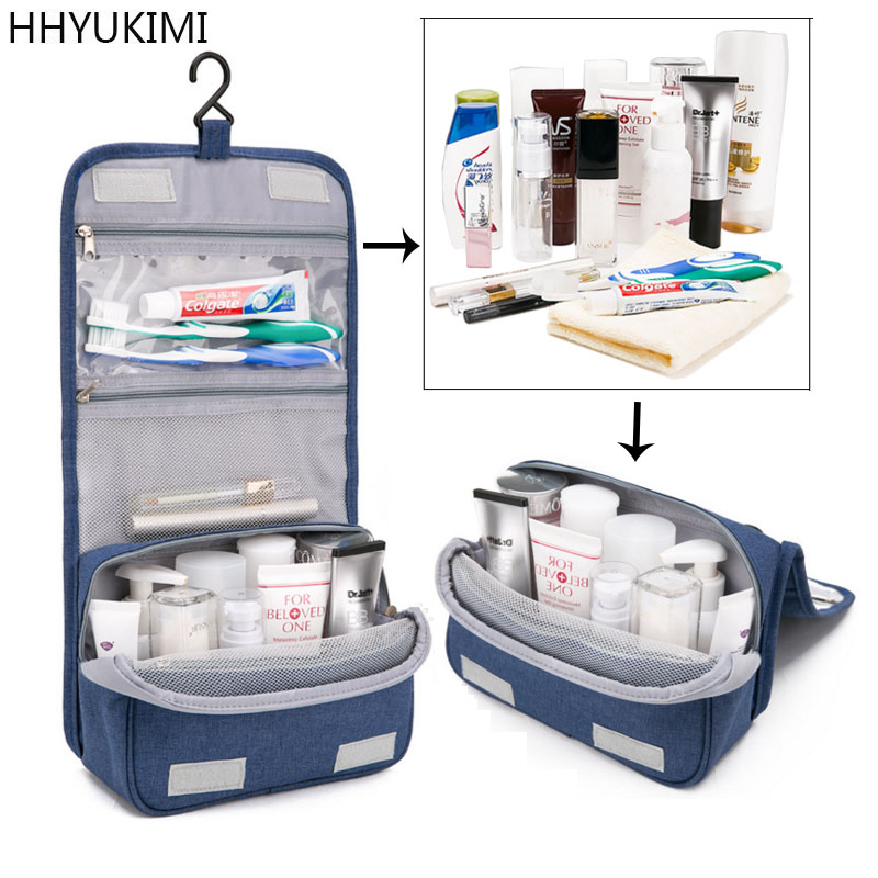 HHYUKIMI Bags Toiletry-Bags Bath-Hook Bathroom-Organizer Cosmetics Makeup Travel Waterproof
