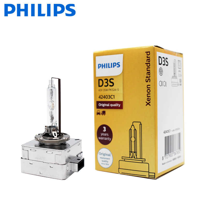 1X Philips Hid D1S D2S D2R D3S D4S D5S 35W Xenon Standaard 4200K Auto Originele Koplamp Auto Echt lamp Oem Vervanging Upgrade