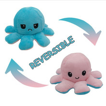 Kids Soft Gift octopus Plush Animals Children Double-Sided Flip Doll Soft Reversible Cute Plush Toys peluches toys hot sale