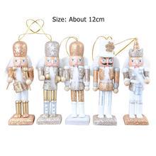 5pcs/Set Wooden Nutcracker Dolls Toys Skillful Manufacture Superior Quality Kids Bedroom Christmas Xmas New Year Decor