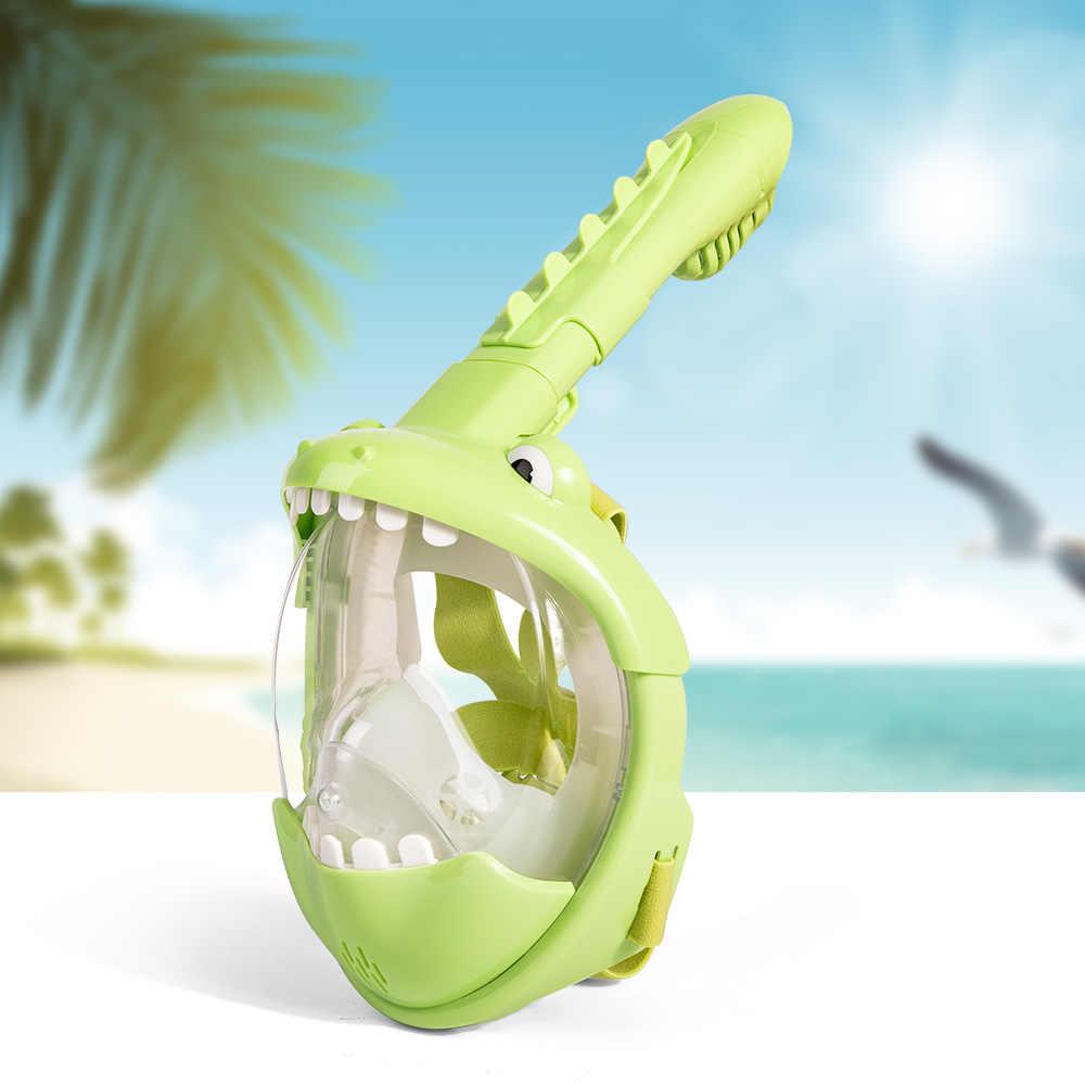 2020 nueva máscara de buceo de dibujos animados para niños Full Face HD Anti Fog Snorkel máscara de buceo equipo de buceo