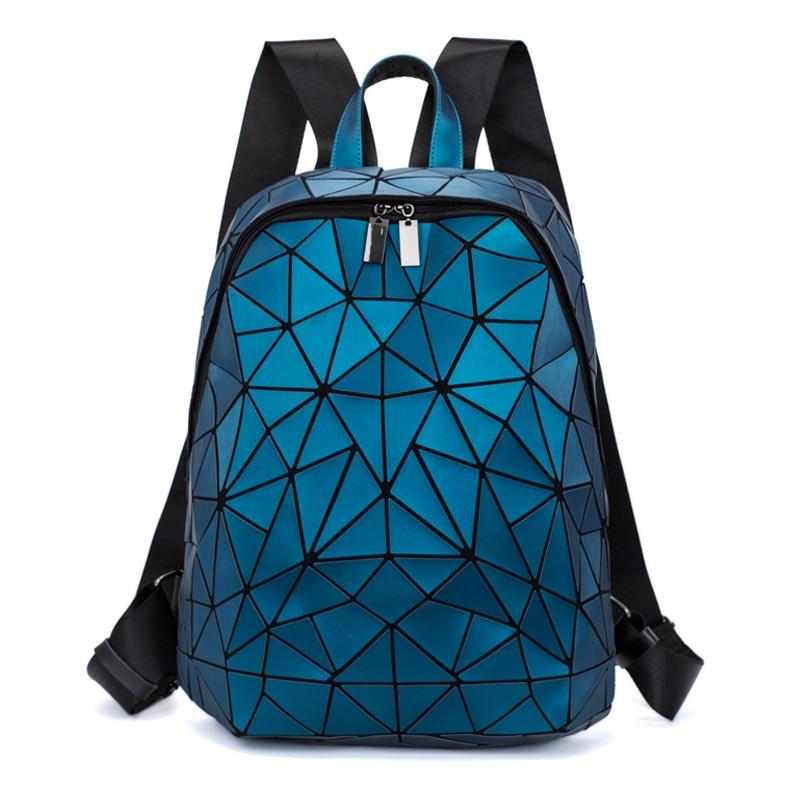 2019 New Women Laptop Backpack Fashion Geometric Anti Theft Travel Backpack Bao School Bags For Teenage Girls Mochila Mujer