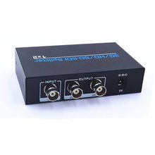 SDI 1x2 Splitter SD/HD/ 3G SDI Splitter 1 Input and 2 Output up to 300m/985ft Signal Supports Resolutions Up To 1920x1080@60Hz