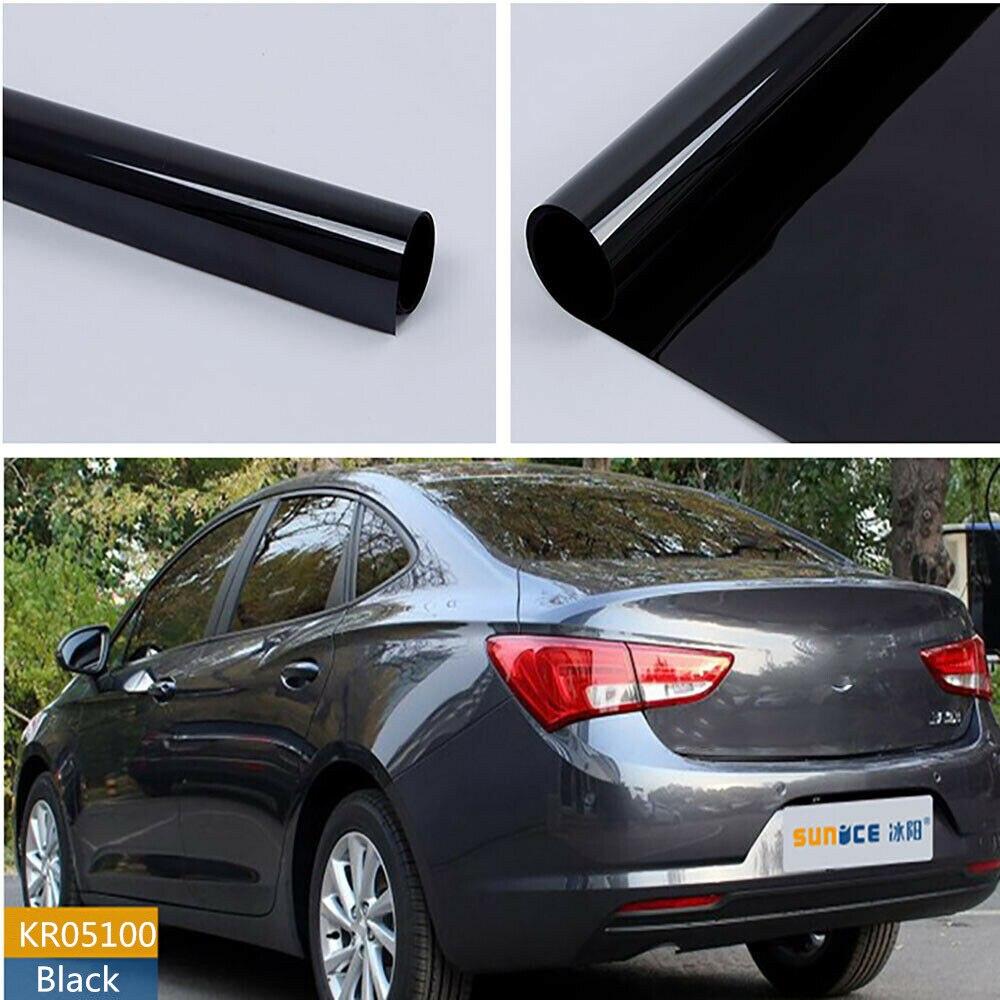 sunice 152x200cm 4 mil espessura matiz da janela do carro vlt 5 preto profundo nano matiz