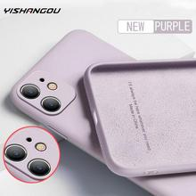 Liquid-Silicone-Case Protect-Cover iPhone 12 12 Mini for 11-pro/Max-x-xs/Max/Xr 7/8/6/..