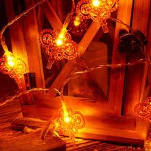 Chiński węzeł Garland łańcuchy świetlne nowy rok boże narodzenie bajkowe oświetlenie LED ozdoby romantyczna świąteczna światełka oświetlenie zewnętrzne tanie tanio HOSPORT Nieregularne NONE CN (pochodzenie) String Lights Suche baterii Fairy Hanging Lights String Lights for Christmas