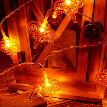 Chinese Knot Garland String Lights New Year Christmas LED Fairy Lights Ornaments Romantic Holiday Lights Outdoor Lighting cheap HOSPORT Irregular NONE CN(Origin) Dry Battery Fairy Hanging Lights String Lights for Christmas Chinese Knot String Lights with Battery Box