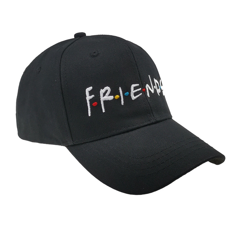 Women Men Fashion Spring Summer Hat Friends Embroidery Baseball Cap Cotton Adjustable Snapback Hats New Casual Caps Relieving Heat And Sunstroke