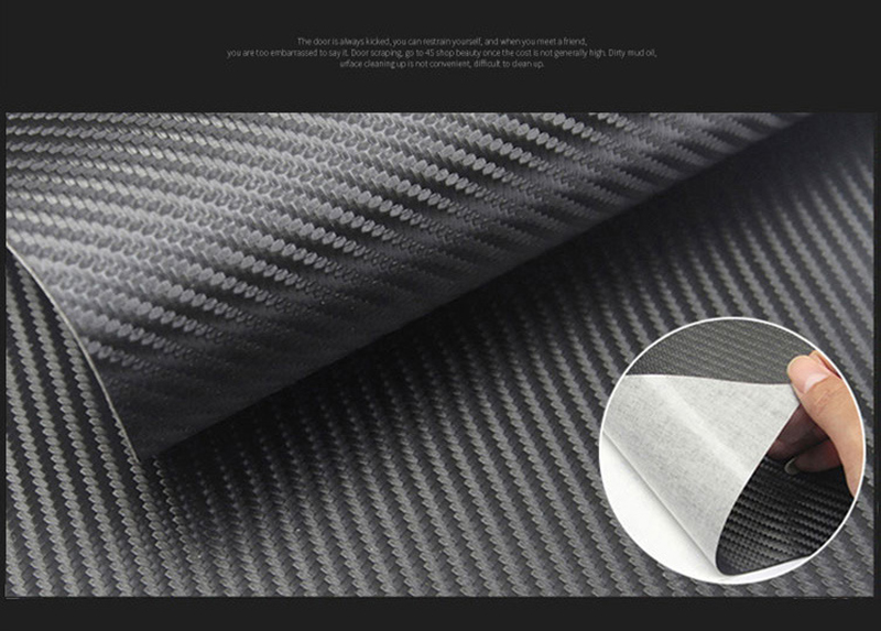rollo de vinilo con tecnolog/ía de liberaci/ón de aire ROSEBEAR Pel/ícula protectora de fibra de carbono negra para borde de puerta de coche antiara/ñazos 3cm x 3 M 3 cm x 3 metros Negro 1