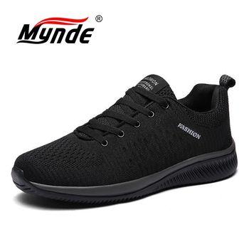Hot Sale Summer Men's Casual Shoes Mesh Breathable Light Men Sneakers Comfortable Soft Flat shoes Outdoor Mens Shoes Size 35-48