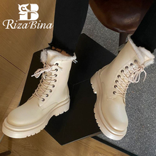Winter Shoes Platform Snow-Boot High-Heel Thick Women Size-34-43 Footwear Ankle RIZABINA