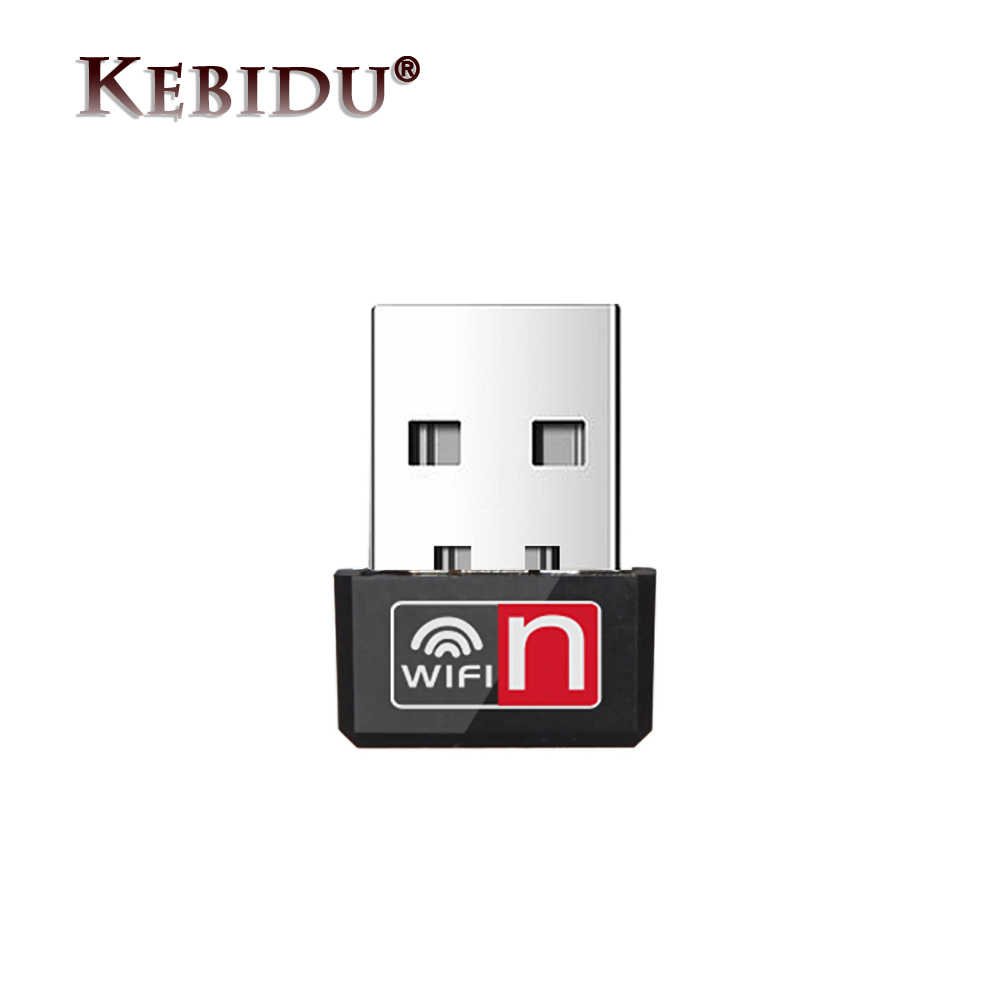Kebidu 150Mbps Mini USB WiFi Adapter MT7601 Wi-Fi Adapter For PC USB Ethernet WiFi Dongle 2.4G Network Card Antena WiFi Receiver