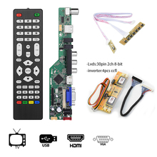T.V53.03 Universal LCD TV Controller Driver Board V53 analog TV motherboard 17