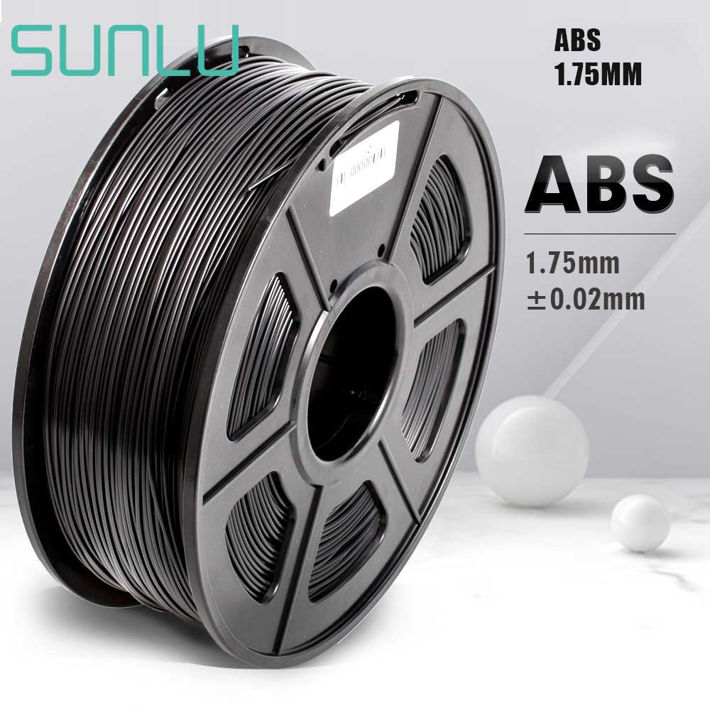 SUNLU 1,75mm 3D Drucker Filament ABS Beste Verkäufer Schwarz Farbe ABS 3D Filament 1KG Mit Spool Sublimation 100% keine Blase