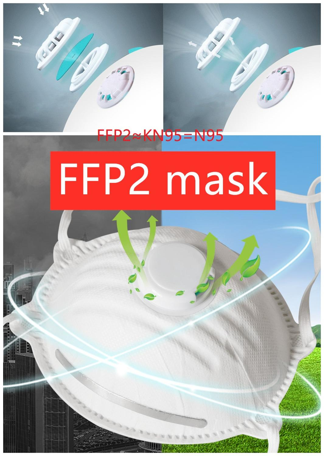 Anti-fog Headband FFP2  FFP1 KN95 N95 Grade Mask Non-woven Dust Mask Anti PM2.5 Anti Influenza Stock Enough Fast Delivery