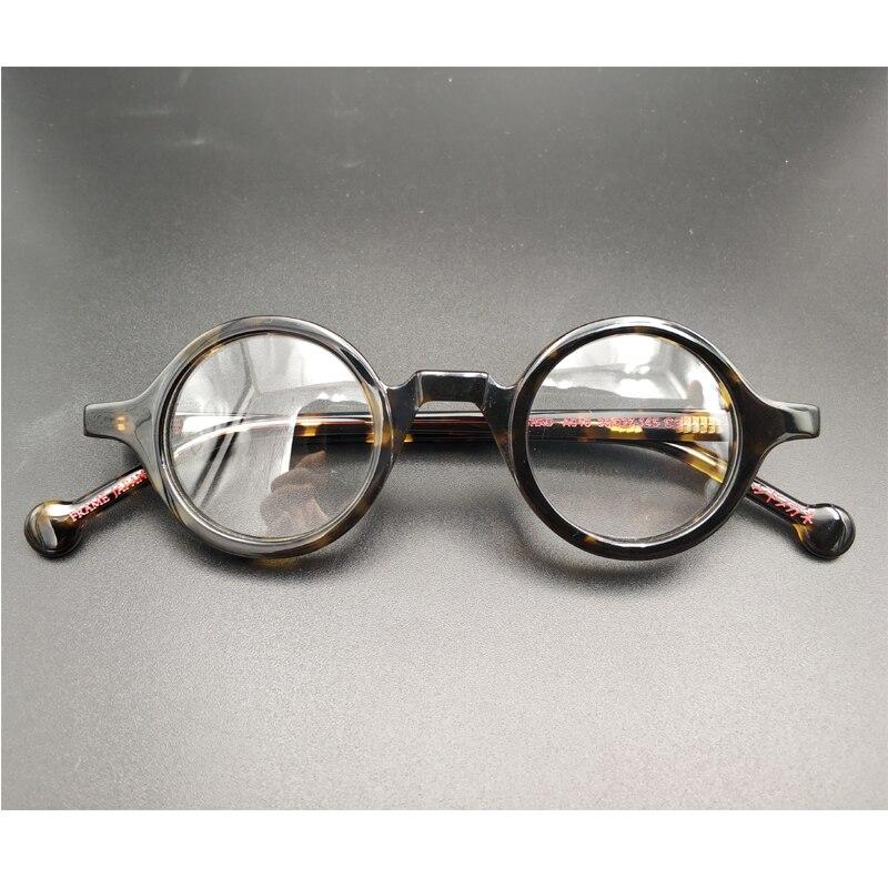 Men's retro small round glasses frame, high quality retro acetate optical glasses transparent lens reading glasses ladies