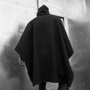 Image 4 - الخريف الشتاء الرجال المتضخم فاسق الهيب هوب رداء طويل بقلنسوة أسود الرأس رجل القوطية خمر الشارع الشهير هوديس البلوز