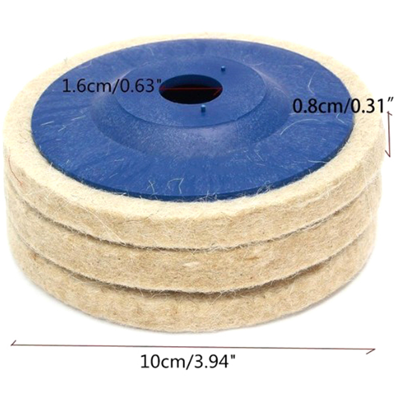 Wool Polishing Wheel Buffing Pads Angle Grinder Wheel Felt Polishing Disc Polisher Diameter: 100mm