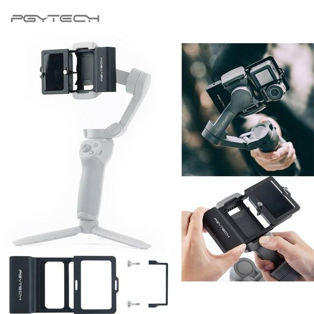 PGYTECH Caméra DACTION Adaptateur + pour Mobile Cardan pour Gopro Hero7 6 5 Osmo Daction DJI osmo Mobile 3 planche rabotée 4 Caméra Accessoires