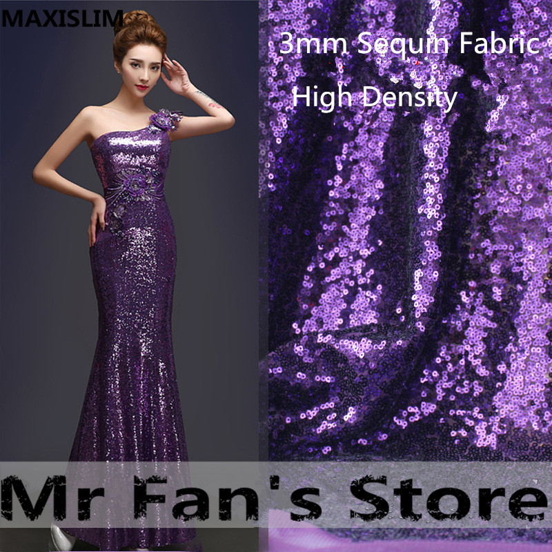 3MM Irregular High Quality Sequin Fabric  Gold Silver Sparkly DIY Handmade  Party Events Table Covers Decor 25 Colors Wide130cm