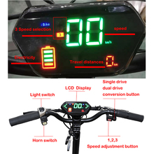 52V 2000W/2600W Dual Motor Wheel Lithium Battery Foldable  Adult E-Scooter 11inch  Fat tire Long Hoverboard Electric Scooter