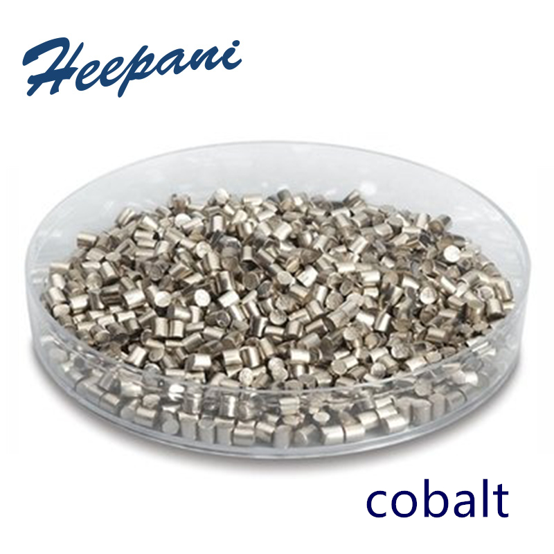 Free Shipping 99.9% - 99.99% Cobalt Metal Pellets Electrolytic Cobalt Co Granular 3N / 4N Pure Cobalt Ingot For Evaporation