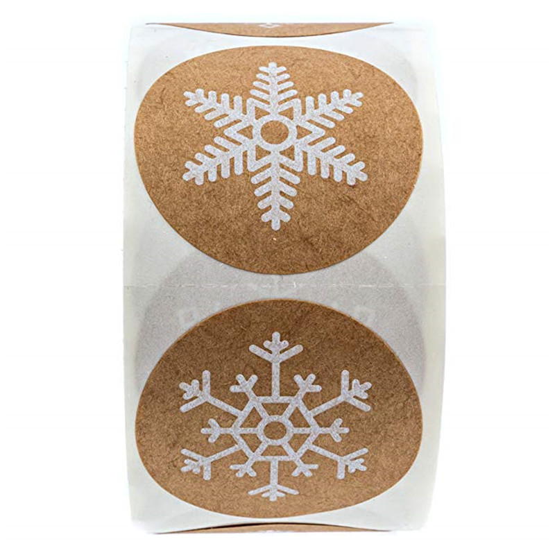 50-500pcs Christmas Gift Decoration Sticker Package Kraft Stickers 4
