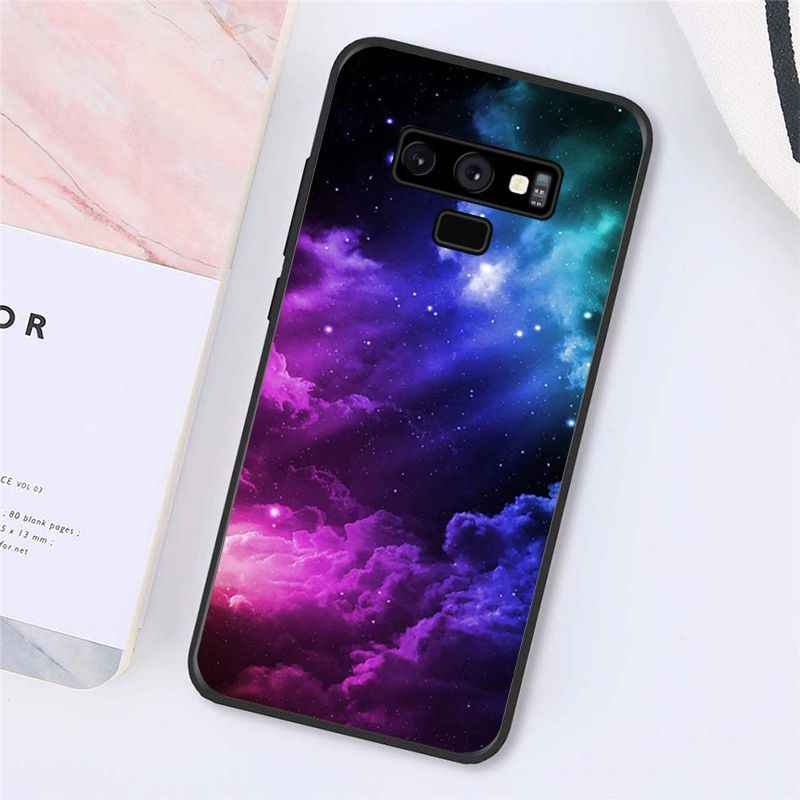 Babaite Antar Bintang Ungu Bintang Ruang Phone Case untuk Samsung Galaxy A50 Note9 8 7 5 10 Pro J5 J6 Perdana j7 Duo