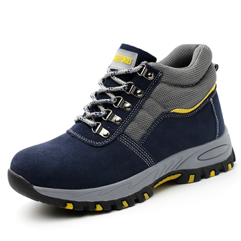 new design mens big size casual steel toe caps working safety shoes cow suede leather security ankle boots zapatos de seguridad