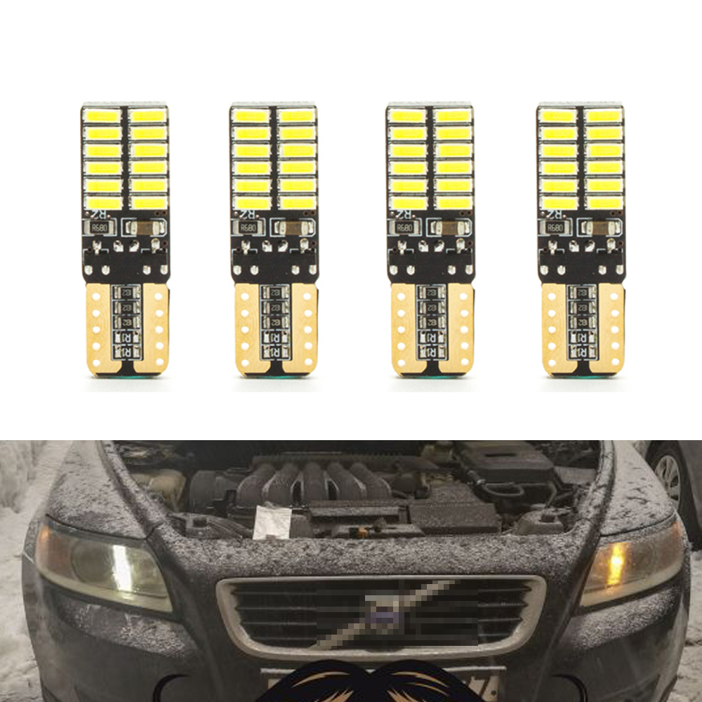 <font><b>Canbus</b></font> <font><b>T10</b></font> <font><b>W5W</b></font> SMD <font><b>4014</b></font> 24LED Car Wedge Clearance Lights Parking Light For Volvo S60L S80L XC90 C70 V40 V50 V60 XC60 S40 S60 S80 image