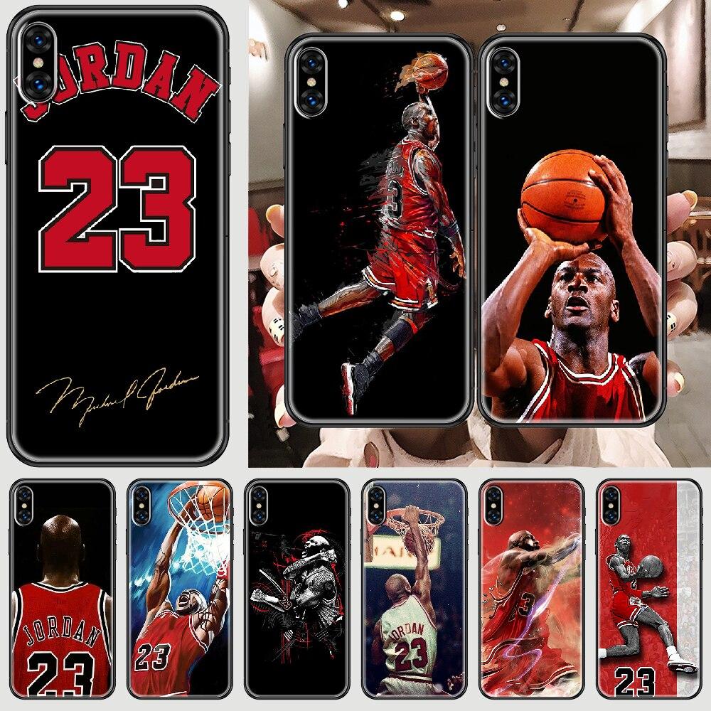 Michael Jordan 23 Flying man Phone Case Cover Hull For iphone 5 5s se 2 6 6s 7 8 12 mini plus X XS XR 11 PRO MAX black 3D prime