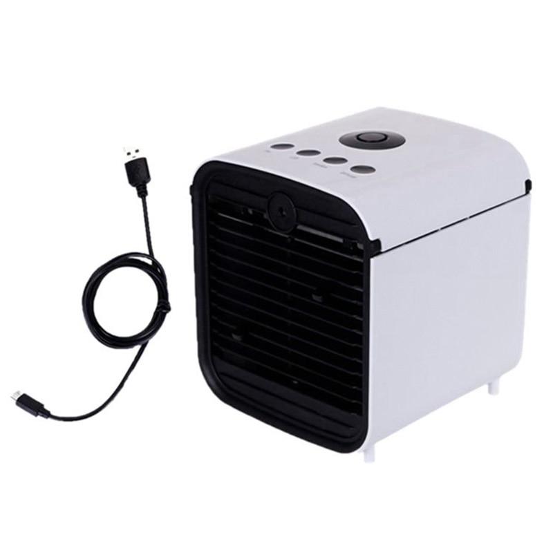 Ev Aletleri'ten Nemlendiriciler'de En İyi fırsatlar Usb Mini taşınabilir HAVA SOĞUTUCU Fan nemlendirici arıtma 7 renk işık masaüstü hava soğutma fanı klima ofis için title=