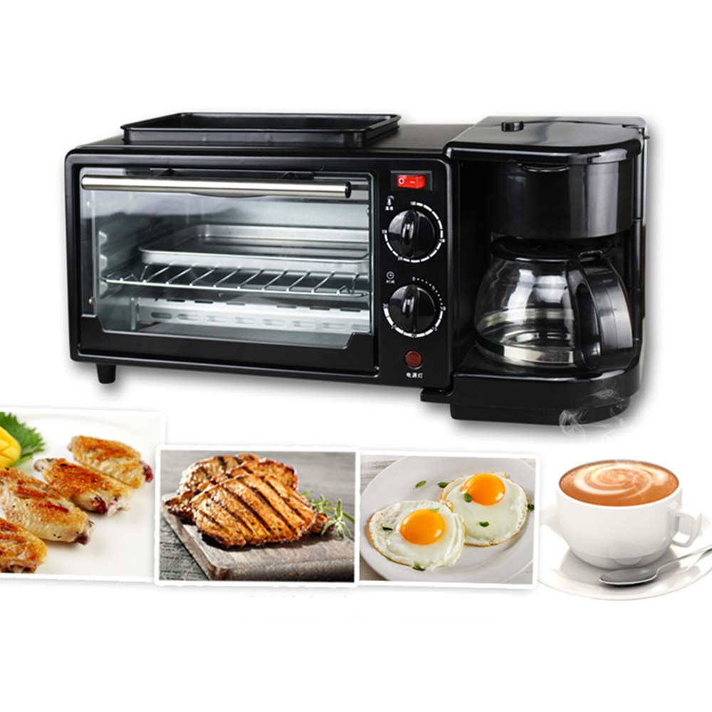 Multi-function Toaster Home Small Coffee Omelette Bakery Electric Oven Three In One Breakfast Bar